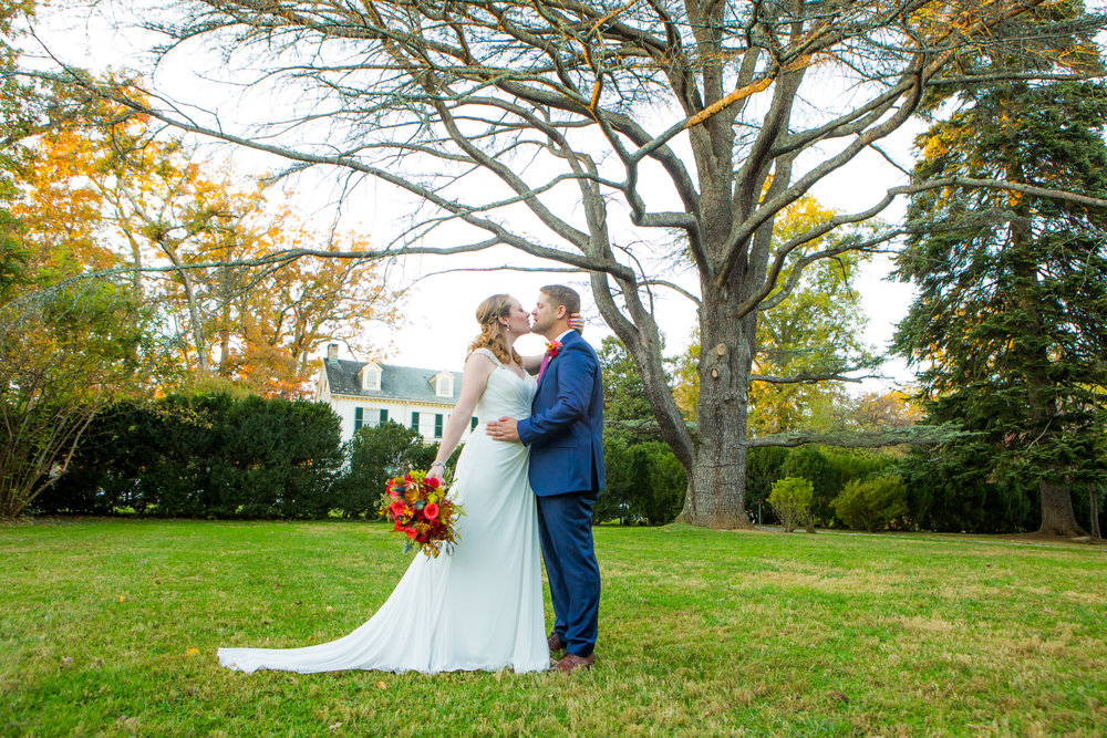 Bride and Groom Portrait at Rust Manor