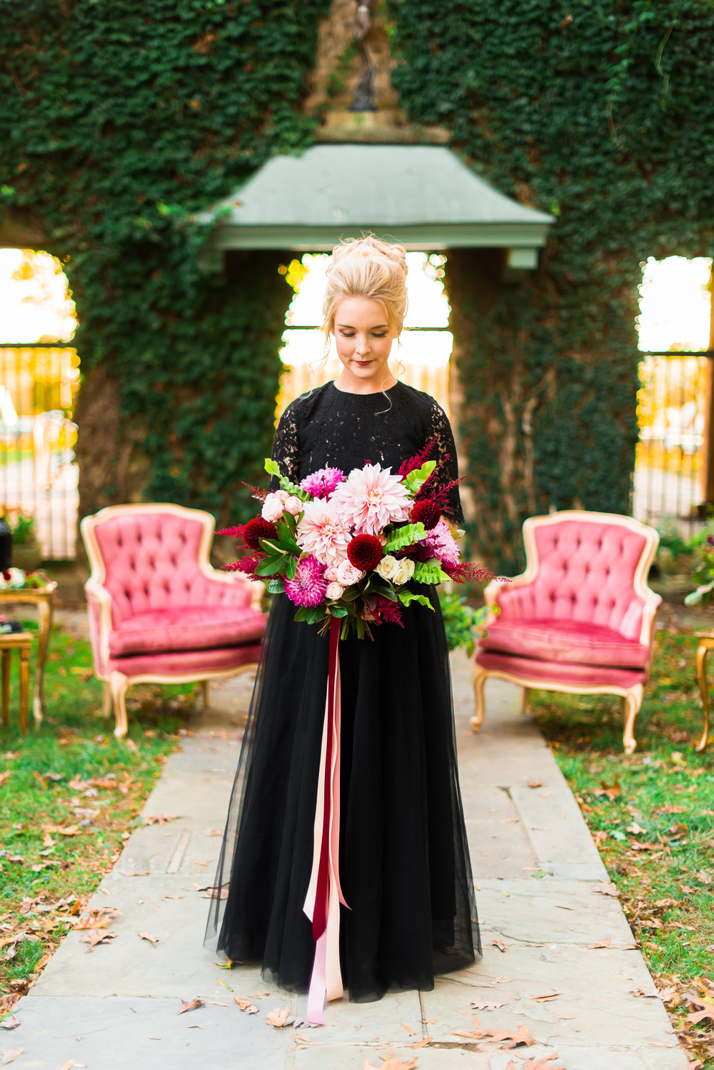 Berry and Black Wedding