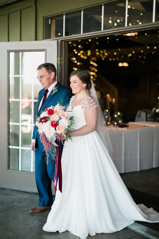 Bride at Bluemont Vineyard