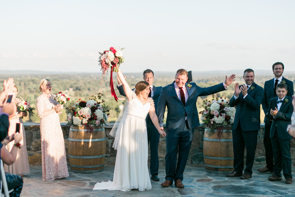 Just Married at Bluemont Vineyard