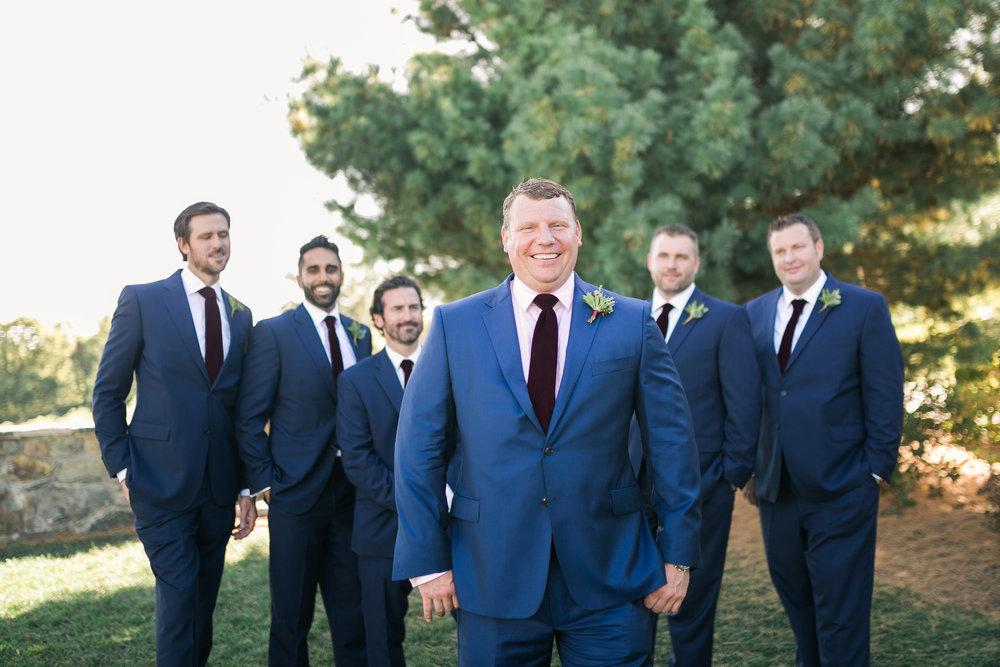 Groomsmen at Bluemont Vineyard Wedding