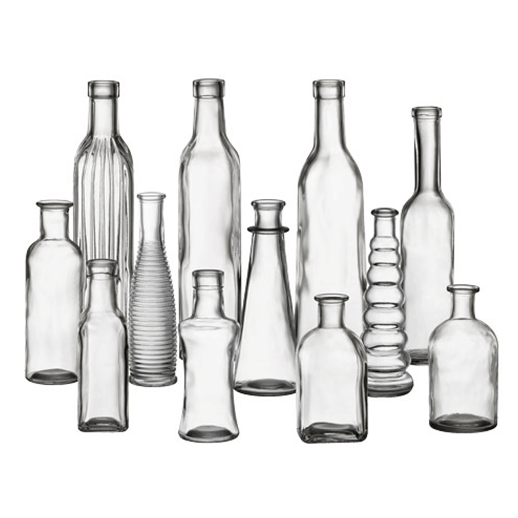 Assorted Clear Glass Bud Vases