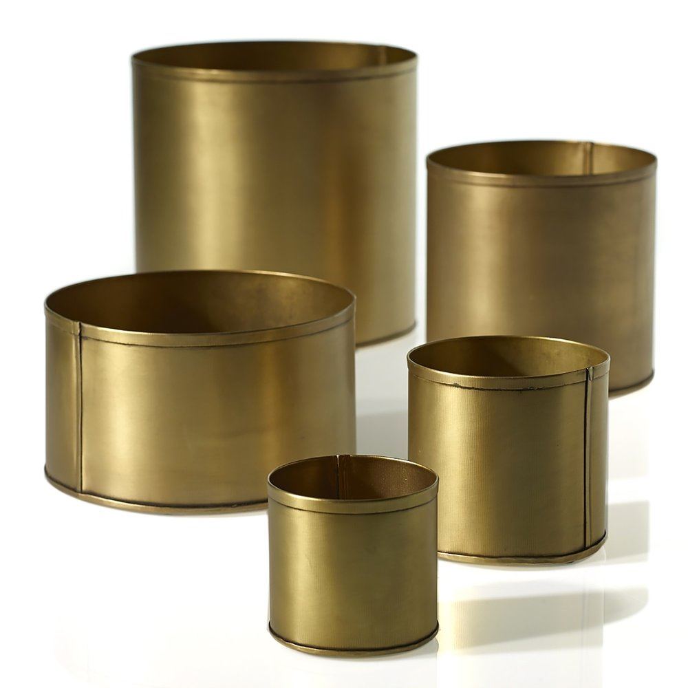 Small Brassy Gold Metal Cups