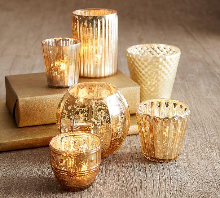 Eclectic Gold Votives