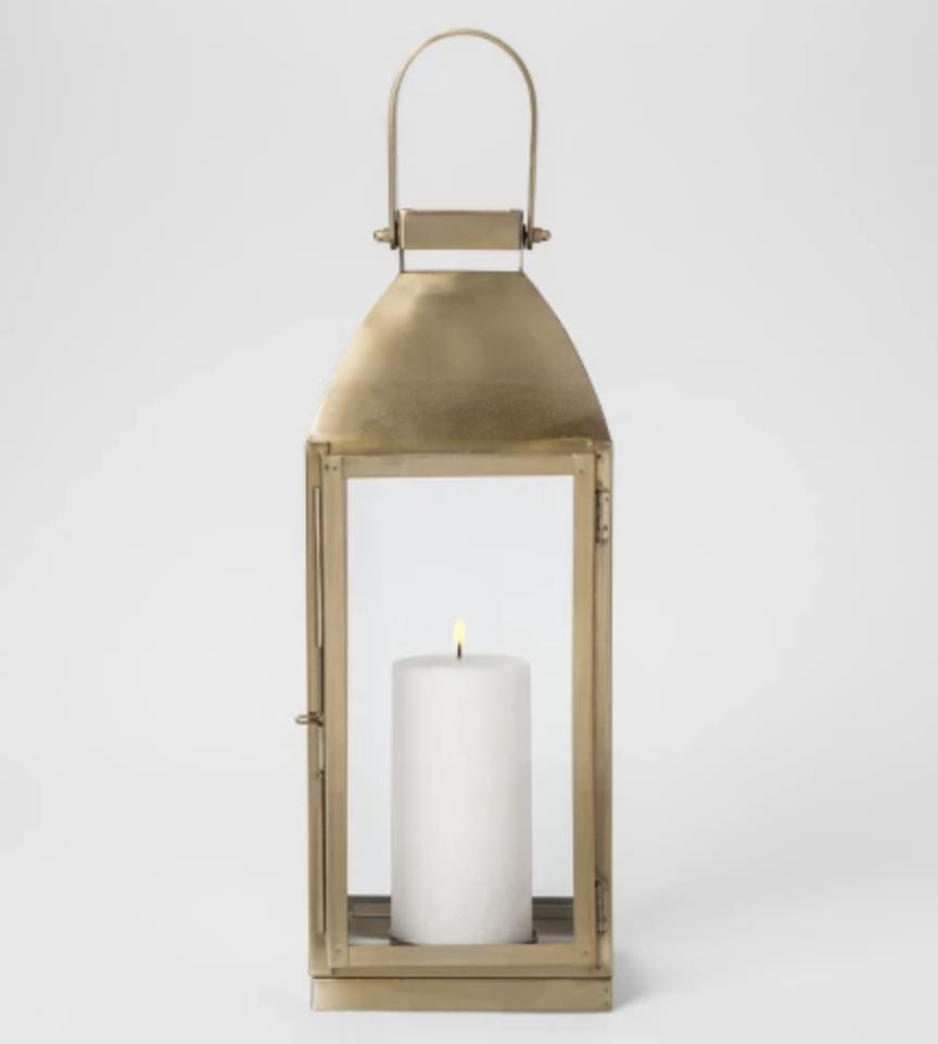 """16"""" Gold Metal Lantern"""