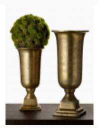 "12"" Brass Urns"