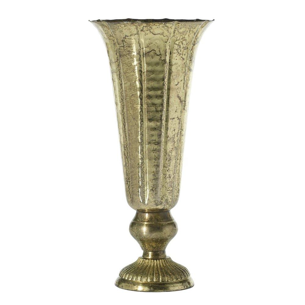 """14"""" Gold Metal Urn"""