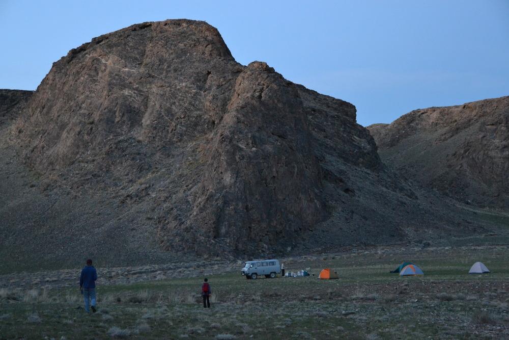 Campsite at Taishir