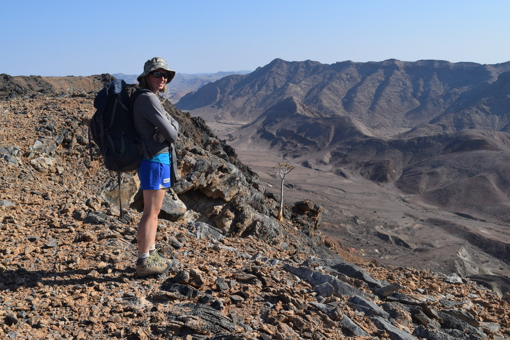 Looking out over Neoproterozoic strata in Namibia