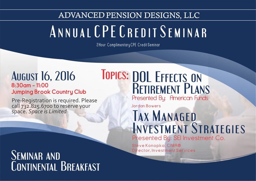 2016 APD CPE Seminar