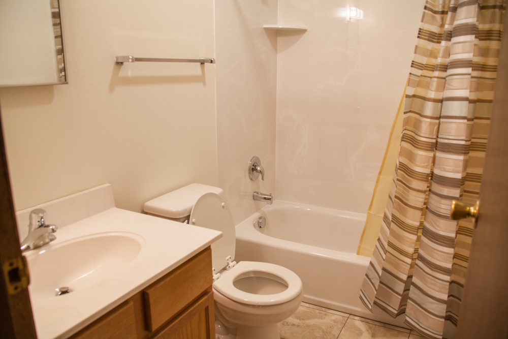Newly remodeled bathrooms - tile floors