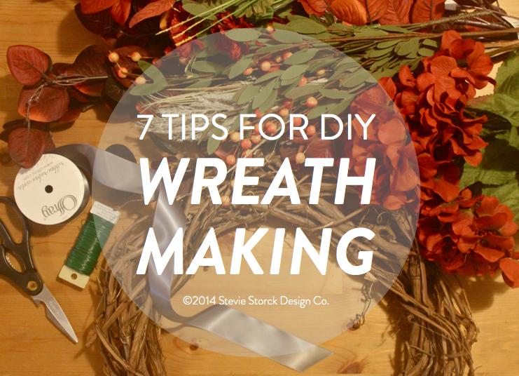 Fall Style 7 Tips For Diy Wreath Making Stevie Storck
