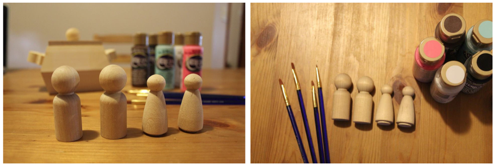 SSDC - DIY Wooden Doll Family 1