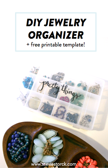 Easy DIY Jewelry Organization with free template!