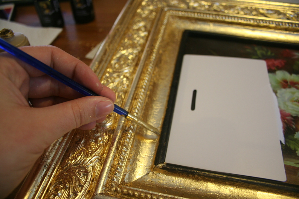 Glasses Frame Touch Up Paint : How-to use Gold Leaf to Upgrade Thrift Store Art Stevie ...