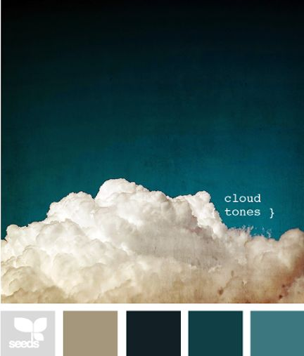 Dark Teal Cloud Tones Design Seeds