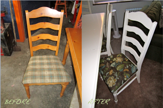 Transforming A Yard Sale Dining Set Before & After - Stevie Storck Design Co.