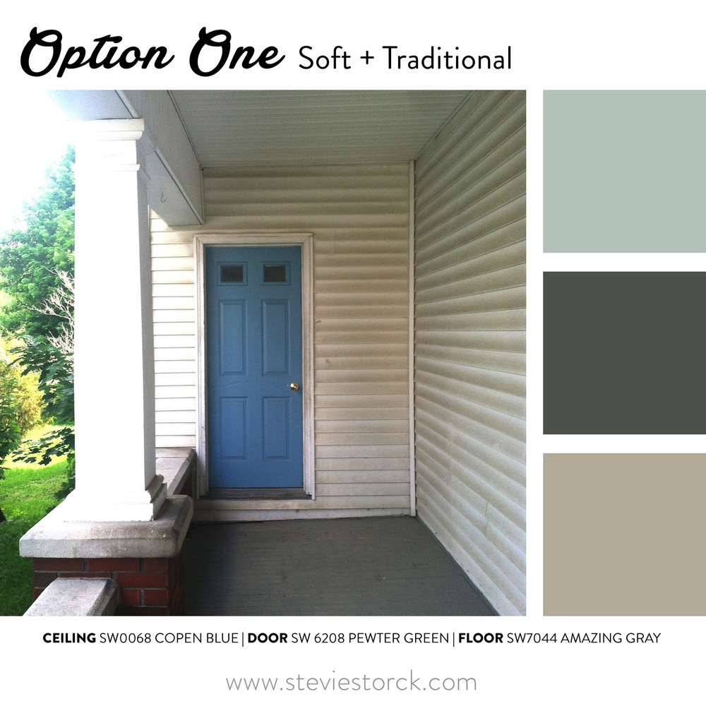 Front porch exterior paint color inspiration stevie for What color to paint my front porch