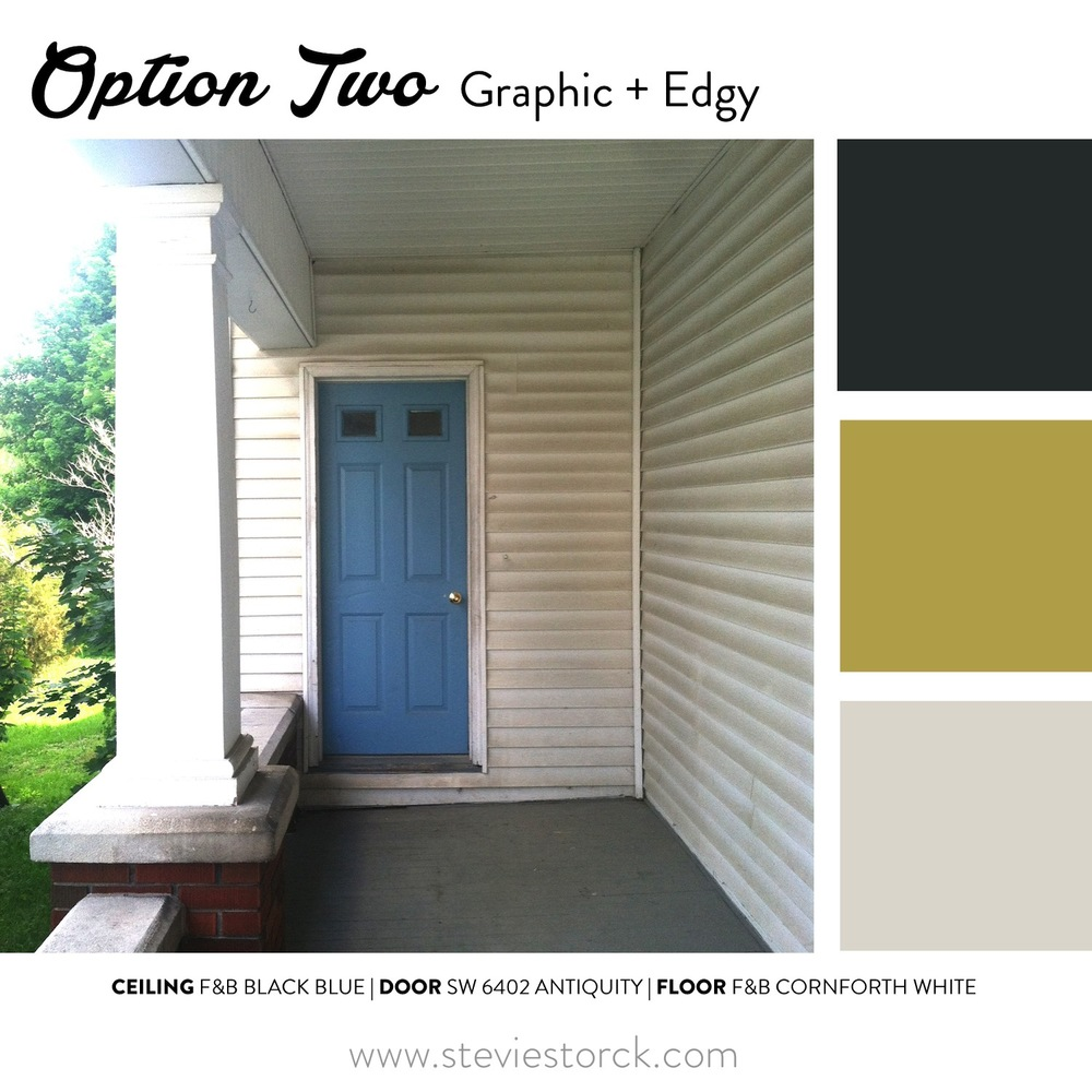 Front porch exterior paint color inspiration stevie for Modern exterior colours