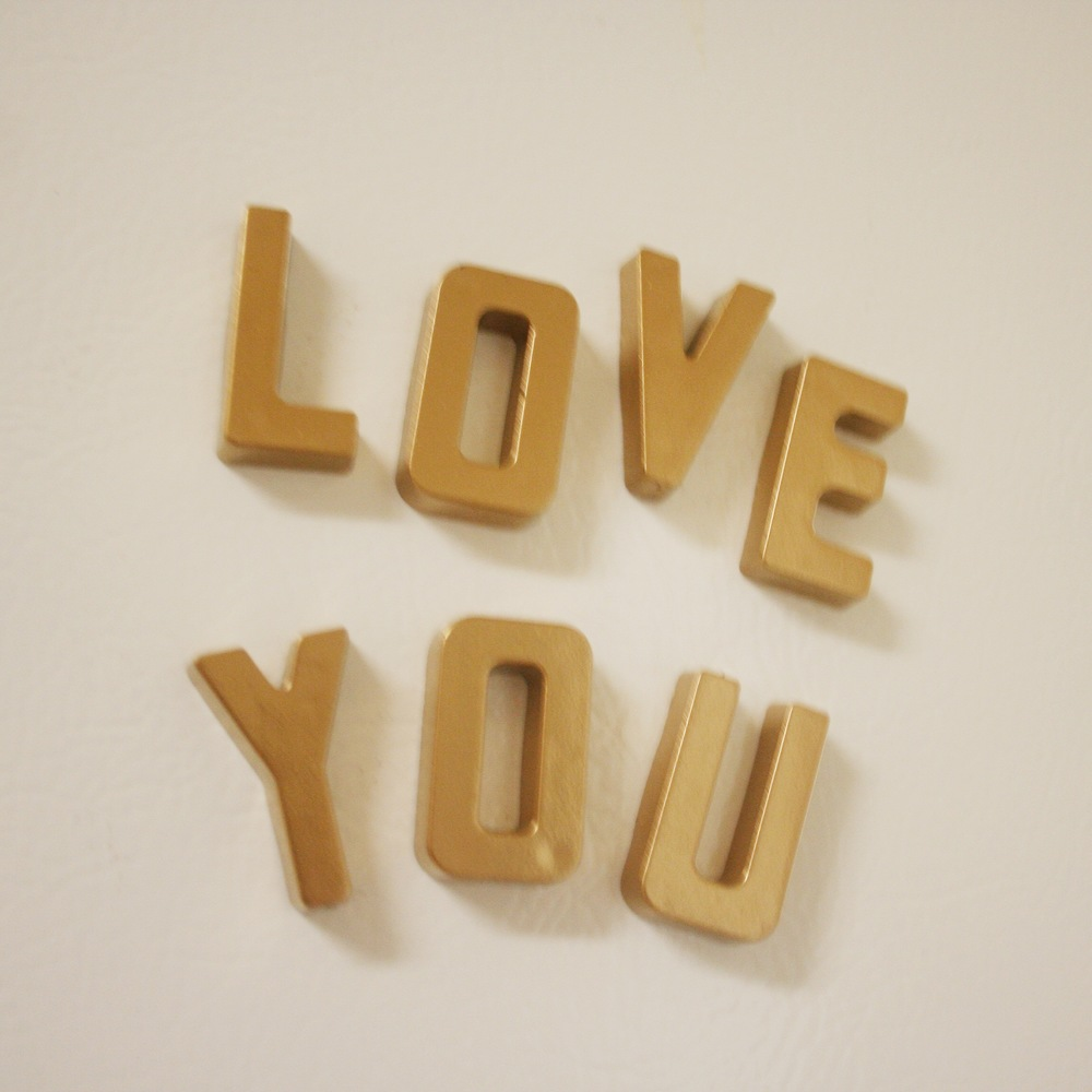 DIY Gold Alphabet Magnets - Stevie Storck Design Co.