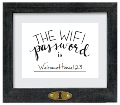"""The Wifi Password is..."" FREE Printable from Stevie Storck Design Co."