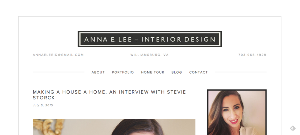 Stevie Storck Design Co. featured on Anna E. Lee Interior Design