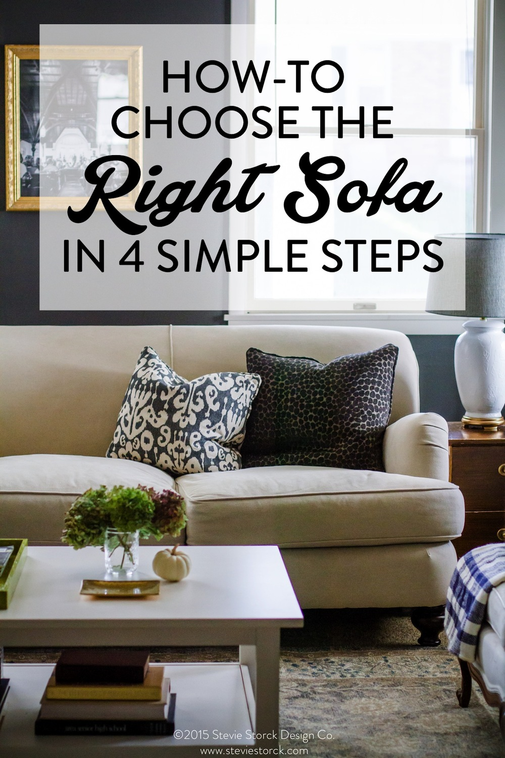 MUST KNOW TIPS for sofa shopping! This easy guide will teach you what to look for and how to find the perfect couch for your style, needs and budget! Tips from a professional interior designer.