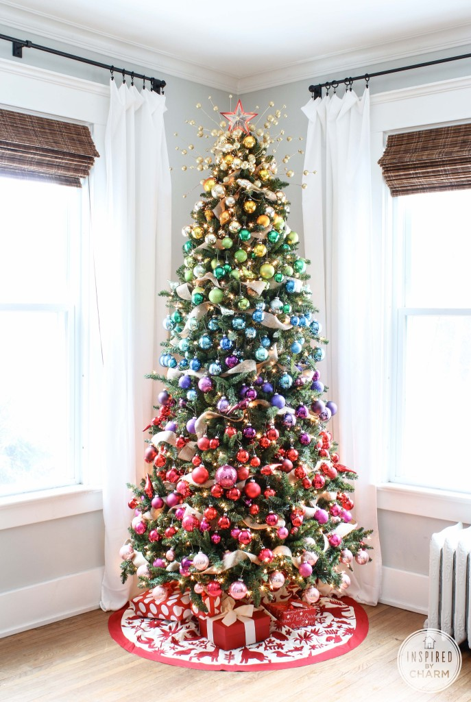 Ombre Rainbow Inspired Christmas Tree {Christmas Tree Inspiration Roundup} - Stevie Storck Design Co.