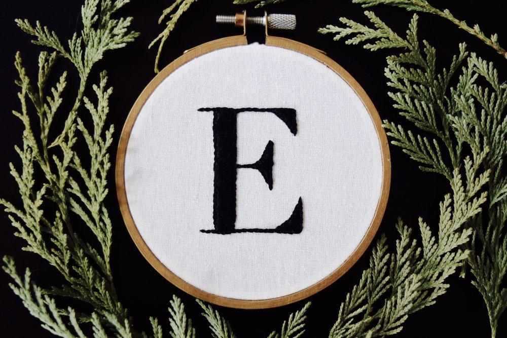 Diy monogram embroidery hoop free pattern stevie storck free pattern pdf easy embroidery pattern for beginners this monogram hoop only requires two dt1010fo