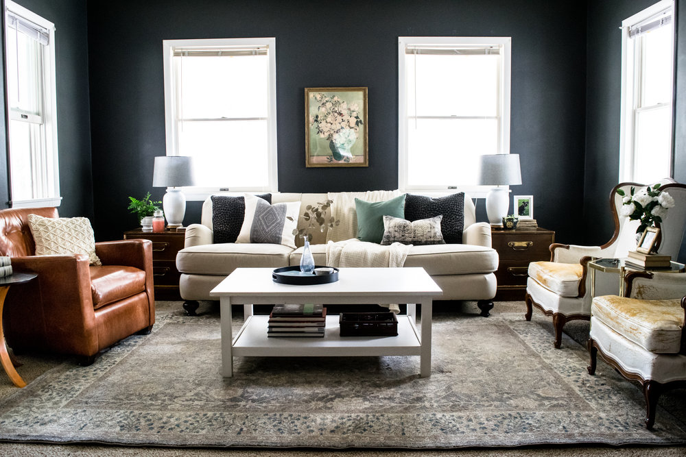 living room progress modern english country style stevie storck design co. Black Bedroom Furniture Sets. Home Design Ideas