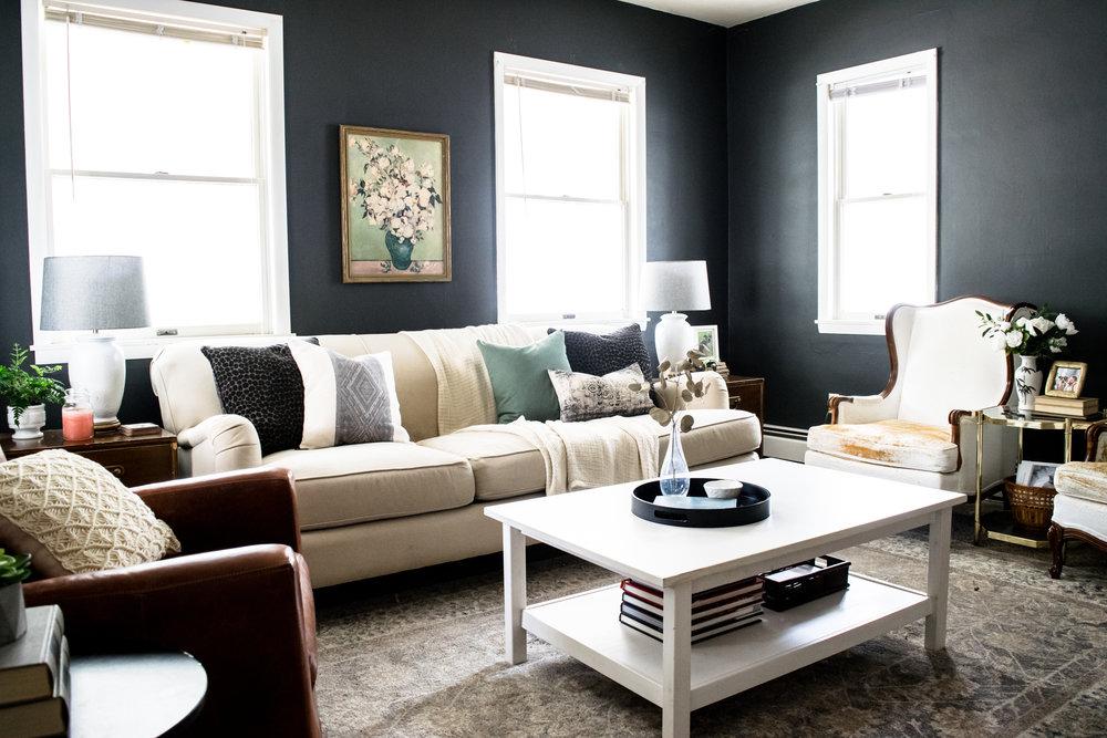 Living Room Progress Modern English Country Style Stevie Storck