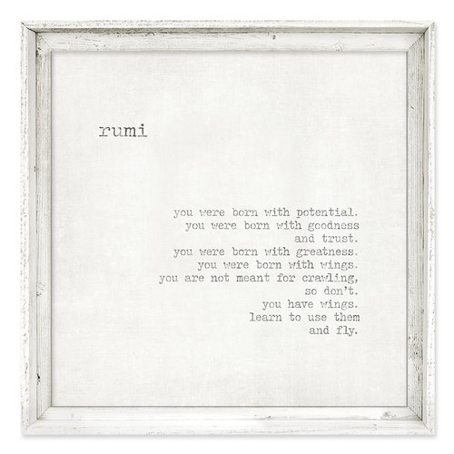 Framed Canvas Wall Art {FAC-195}<br>Rumi Quote - you were born ...