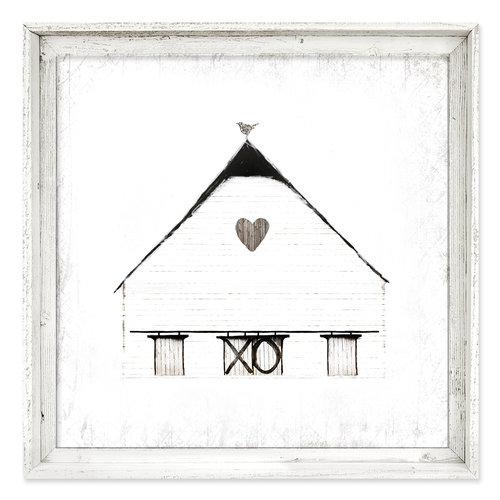 Framed Canvas Wall Art {FAC-197}<br>Rustic Barn — sweet gumball