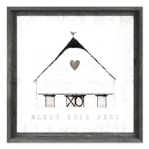 Framed Canvas Wall Art {FAC-198}<br>Bless This Nest — sweet gumball