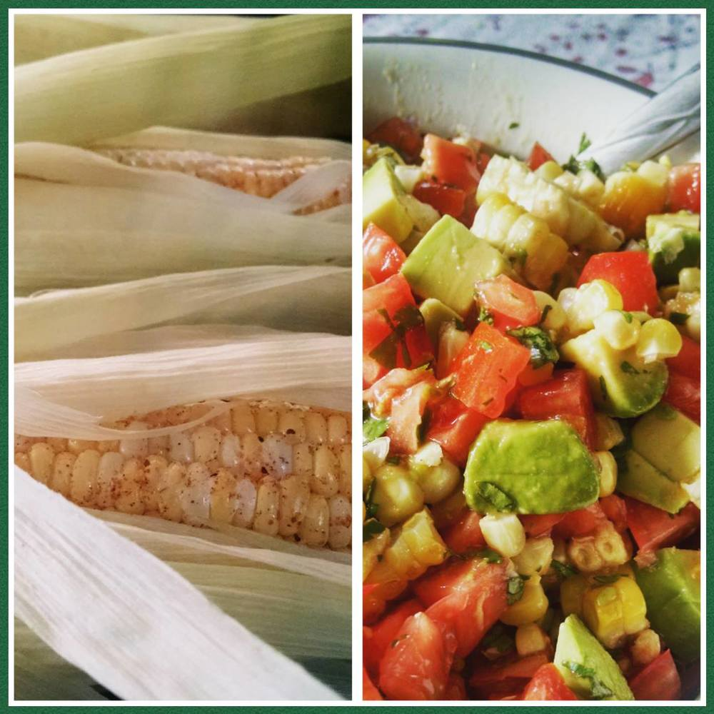 Jenny's grilled corn pico de gallo seasoned with GGX & Smoke Licker!