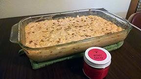 Deborah's cheesy corn casserole seasoned with Roxy Taco!