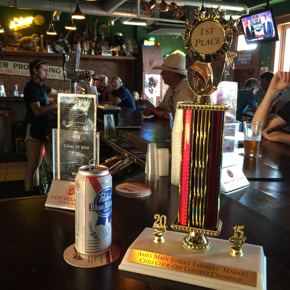 Yeah, we took the trophy to the bar.
