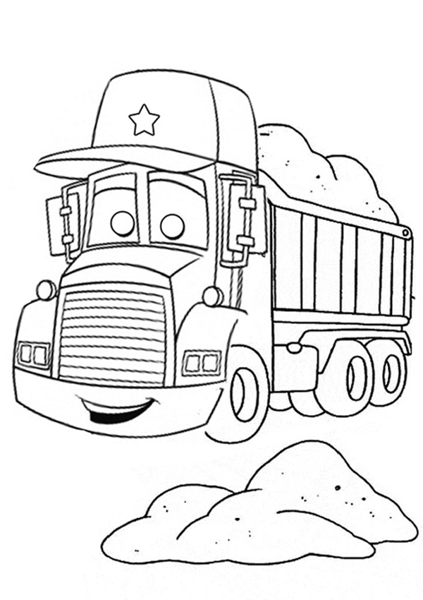 Colouring Templates  Australian Trucking Childrens Legacy