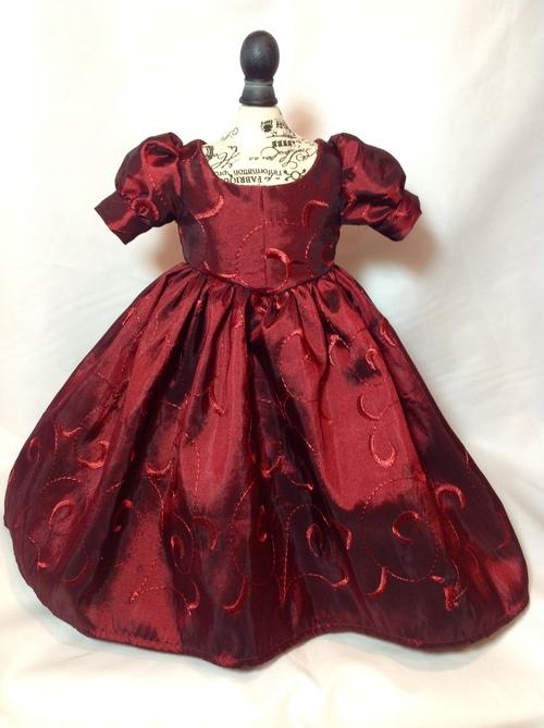 Cranberry Taffeta Dress — Civil War Ball Gowns & Costume