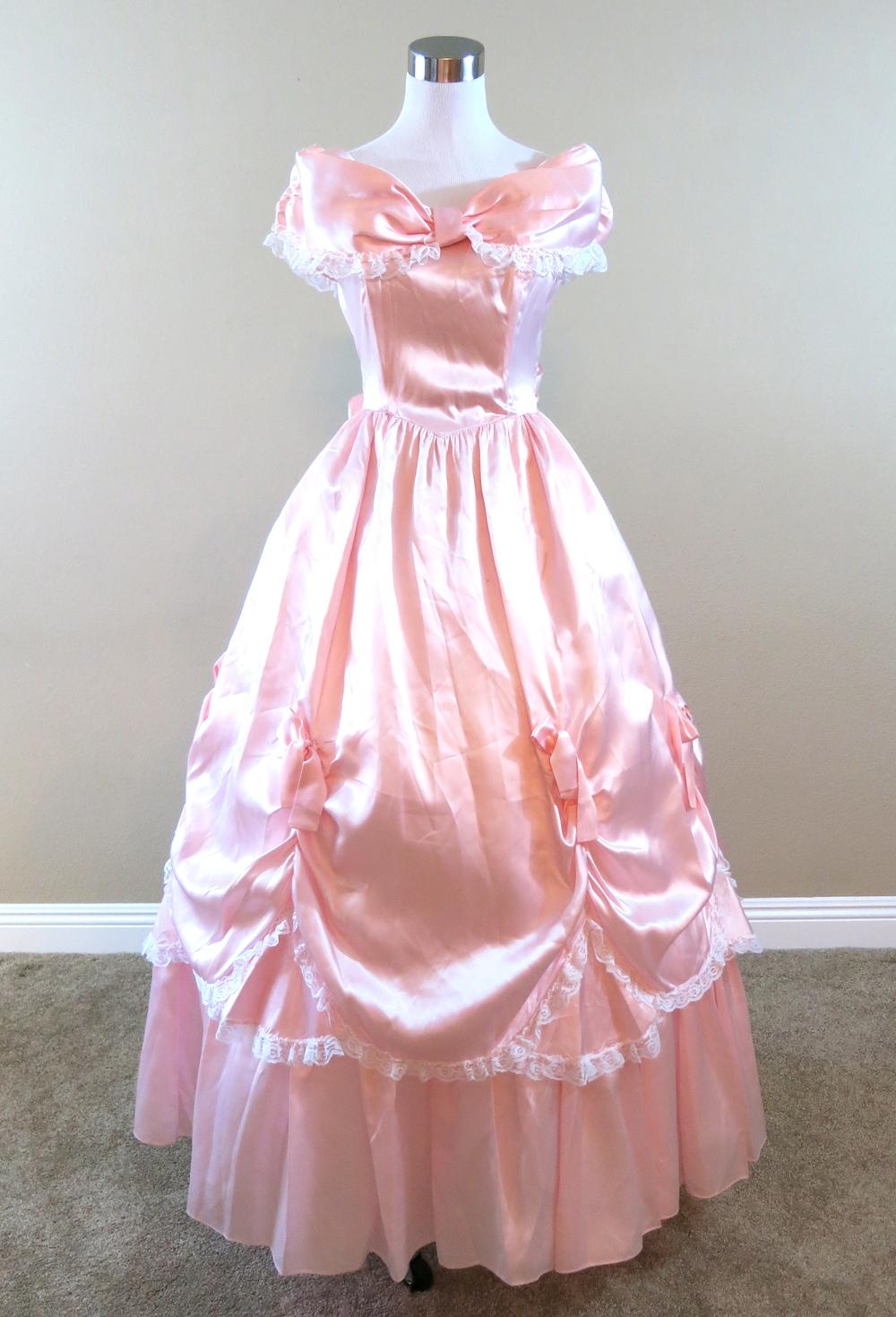 Pink Satin Gown (waist - 28\