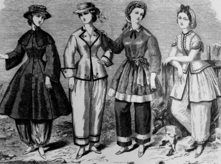Bathing suits, 1860s