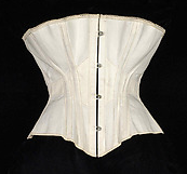 An 1870 American corset from the Royal Worcester Corset Company - constructed in cotton, metal, and bone  (The Metropolitan Museum of Art)