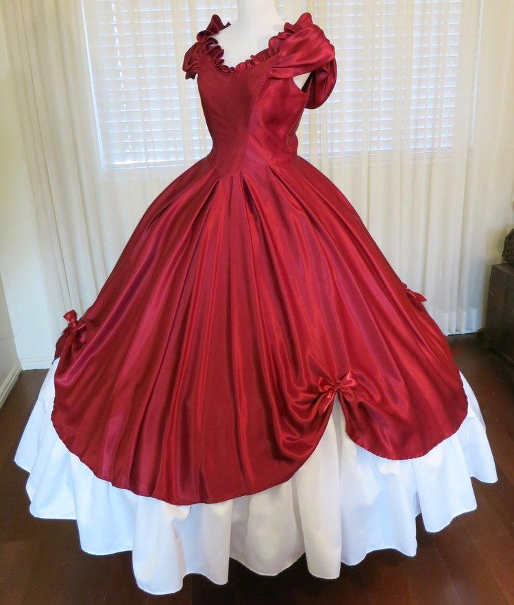 Burgundy 2-Piece Ball Gown (waist - 31\