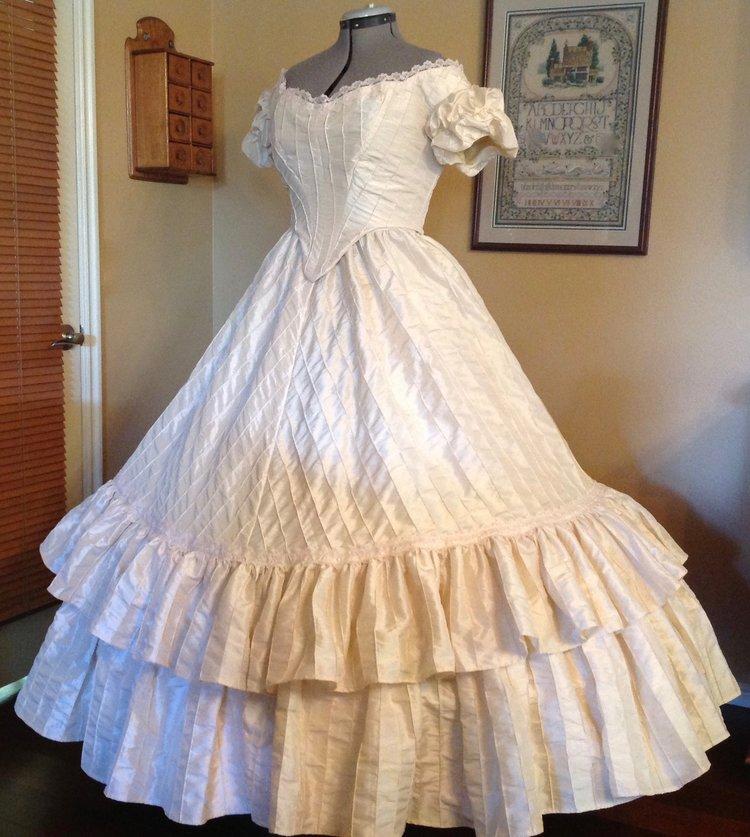 Three Piece Ecru Gown (waist 34\