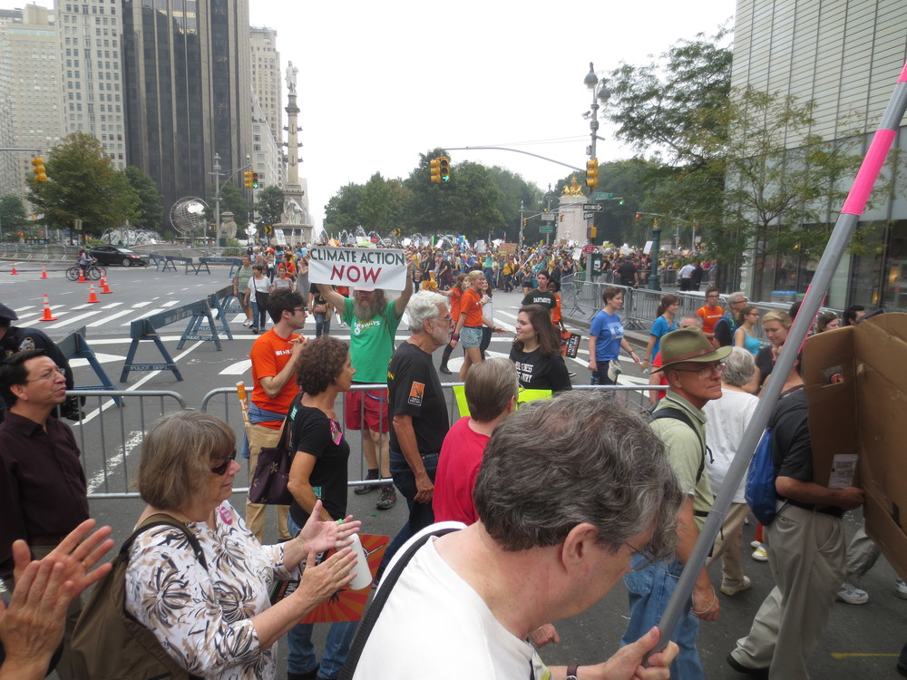 At the People's Climate March, New York City, 9/21/14