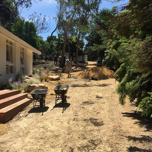 Mt Eliza project just about there, great to get down the finishing materials, but it's all the subsurface works that really make a landscape endure... @bushprojects #landscapeconstruction #lucidalandscapes #dreamgardens #itsallinthepreparation