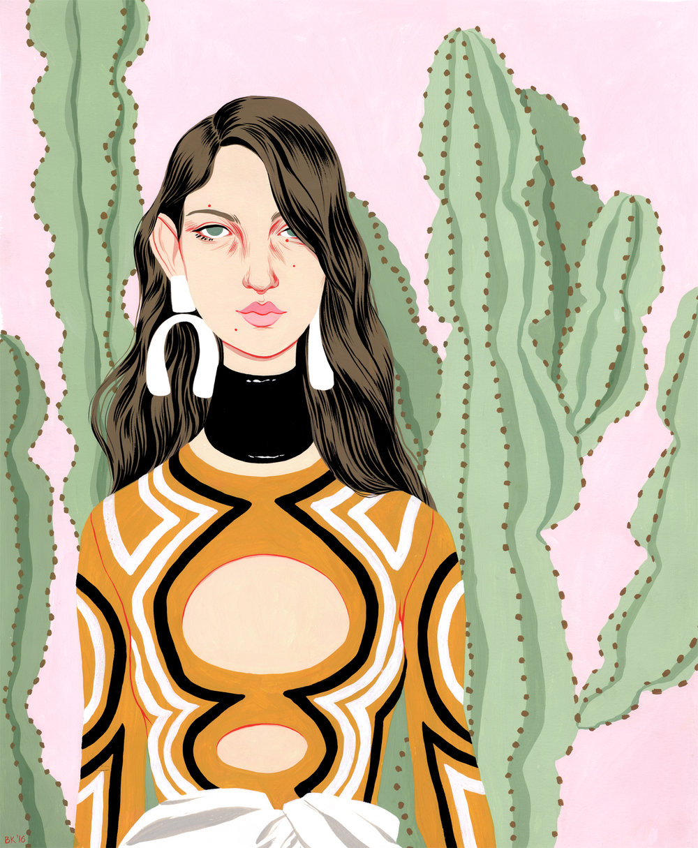 A personal piece inspired by a Proenza Schouler look
