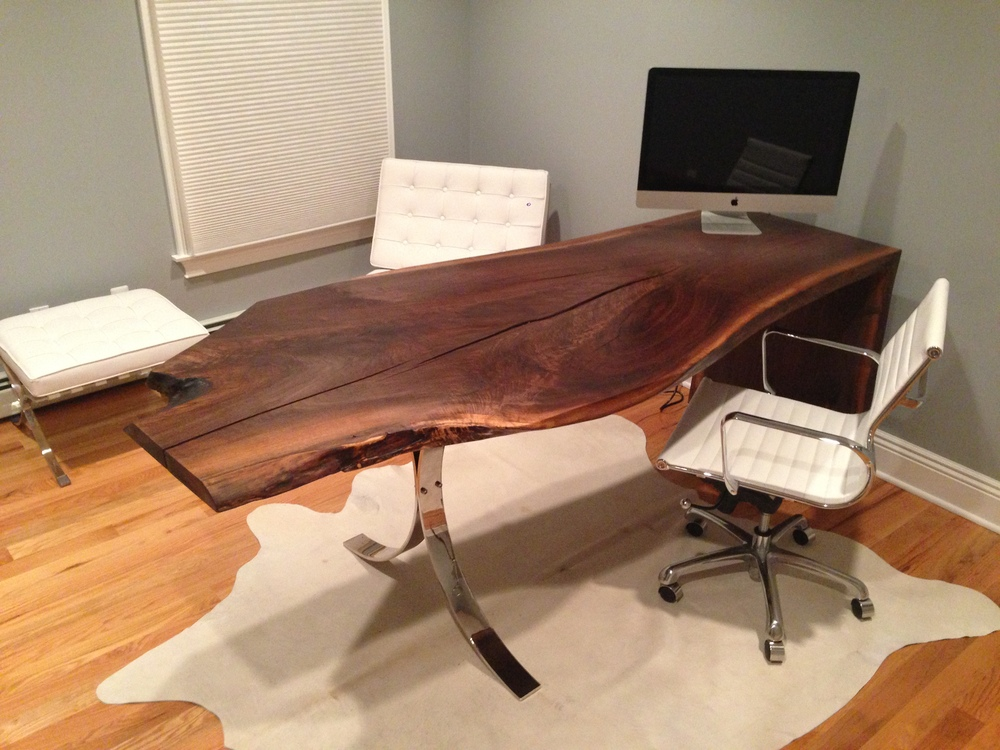 Black Walnut Computer Desk