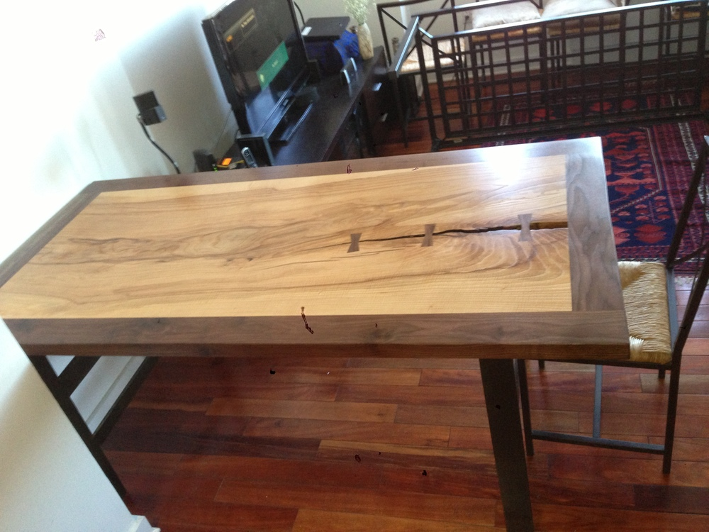 Ash Table with Walnut Border