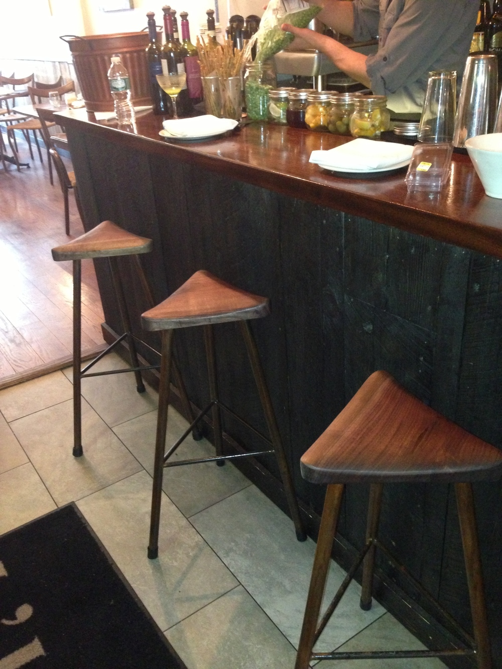 Three Legged Triangle Bar Stools
